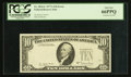 Error Notes:Third Printing on Reverse, Fr. 2024-L $10 1977A Federal Reserve Note. PCGS Gem New 66PPQ.. ...
