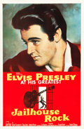 "Movie Posters:Elvis Presley, Jailhouse Rock (MGM, 1957). One Sheet (27"" X 41.25"").. ..."