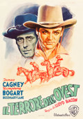 "Movie Posters:Western, The Oklahoma Kid (Warner Brothers, 1946). First Post-War Release Italian Foglio (27.25"" X 39.5"").. ..."