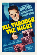 "Movie Posters:Film Noir, All Through the Night (Warner Brothers, 1942). One Sheet (27.25"" X 41"").. ..."