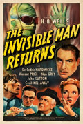 """Movie Posters:Horror, The Invisible Man Returns (Universal, 1940). One Sheet (27.25"""" X 41"""").. ..."""