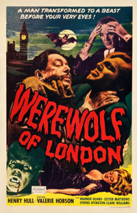 "Werewolf of London (Realart, R-1951). One Sheet (26.75"" X 41.75"")"