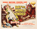 "Movie Posters:Science Fiction, Day the World Ended (American Releasing Corp., 1956). Half Sheet(22"" X 28"").. ..."