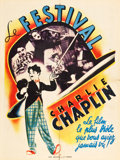 """Movie Posters:Comedy, Charlie Chaplin French Film Festival (1940s). French Affiche (23.5"""" X 31.5"""").. ..."""