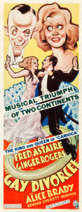 "Movie Posters:Musical, The Gay Divorcee (RKO, 1934). Insert (14"" X 36"").. ..."