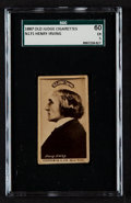 Non-Sport Cards:Singles (Pre-1950), 1887 N171 Old Judge Henry Irving SGC 60 EX 5. ...