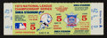 Baseball Collectibles:Tickets, 1973 NLCS Game 5 Full Ticket - Mets Clinch Over Reds....