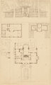 FRANK LLOYD WRIGHT (American, 1867-1959) Perspectives of the Winslow House, River Forest, Illinois (two works), 1910 L...