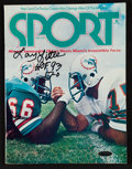 """Football Collectibles:Publications, 1974 Floyd Little Signed """"Sport"""" Magazine...."""