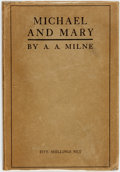 Books:Literature 1900-up, A. A. Milne. Michael and Mary: A Play. London: Chatto & Windus, 1930. ...