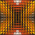 Post-War & Contemporary:Contemporary, YVARAL (JEAN-PIERRE VASARELY) (French, 1934-2002). Structure Ambigüe Cristal, 1971. Acrylic on pressboard. 31-3/4 x 31-3...