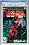 Modern Age (1980-Present):Science Fiction, Battlestar Galactica #18 (Marvel, 1980) CGC NM/MT 9.8 Whitepages....
