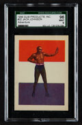 Boxing Cards:General, 1956 Adventure Jack Johnson #32 SGC 96 Mint 9 - None Higher....