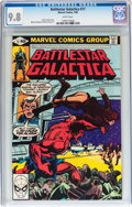 Modern Age (1980-Present):Science Fiction, Battlestar Galactica #17 (Marvel, 1980) CGC NM/MT 9.8 Whitepages....