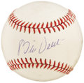 Autographs:Baseballs, 1970's Bill Veeck Single Signed Baseball. Baseball's answer to P.T. Barnum, this pioneering Hall of Famer brought the Ameri...