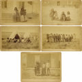 Photography:Cabinet Photos, SET OF FIVE NATIVE AMERICAN INDIAN FAMILY PORTRAITS - BOUDOIR CARDS- ca. 1885-95.. This great set of Native American family... (Total:1 Item)