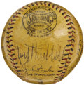 Autographs:Baseballs, 1937 New York Giants Team Signed Baseball. The National League Champs once again found their World Championship dreams stym...