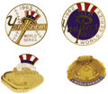 Baseball Collectibles:Others, 1962-64 World Series Press Pins Lot of 4. High-grade pins featureclean enameled faces, untarnished metal and original thre...
