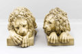 Decorative Arts, Continental, A Pair of Italian Terracotta Lions . . After Canova. Circa1950. Terracotta. 43 x 15 inches (109.2 x 38.1 cm). Stamped M...(Total: 2 Items)