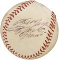Autographs:Baseballs, Late 1960's Roberto Clemente Single Signed Baseball. He gave hisPittsburgh fans the pleasure of witnessing his 3,000th car...