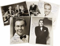 "Music Memorabilia:Autographs and Signed Items, Various Big Band Musician & Singers Signed Photos. Set of fiveb&w 8"" x 10"" photos inscribed and signed by Noble Sissle,Nic... (Total: 1 Item)"