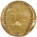 Autographs:Baseballs, 1927 New York Yankees Team Signed Baseball. A genuine team signedsphere from the greatest ballclub of all time, made affor...