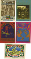 "Music Memorabilia:Posters, Family Dog Avalon Concert Postcard Group (1967). Includes FD-56Charlatans ""Front Porch""; FD-59 Chambers Brothers ""Bobbsey ...(Total: 5 Items Item)"