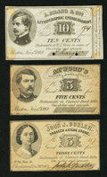 Obsoletes By State:Massachusetts, Three Pieces of Scarce Massachusetts Civil War Scrip.. ... (Total:3 notes)
