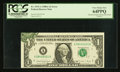 Error Notes:Foldovers, Fr. 1915-A $1 1988A Federal Reserve Note. PCGS Very Choice New64PPQ.. ...