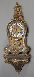 Decorative Arts, Continental:Other , A LOUIS XIV BOULLE BRACKET CLOCK, circa 1710-1715. Marks to clockface and works: MŸNÜEL A PARIS. 32 x 16 x 7 inches (81...