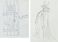 Animation Art:Production Drawing, Sleeping Beauty Maleficent, Diablo and Door AnimationDrawing Group (Walt Disney, 1959).... (Total: 2 Original Art)
