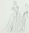 Animation Art:Production Drawing, Sleeping Beauty Maleficent with Torch Animation Drawing(Walt Disney, 1959)....