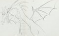 Animation Art:Production Drawing, Sleeping Beauty Maleficent as Dragon Pan Animation Drawing(Walt Disney, 1959)....