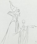 Animation Art:Production Drawing, Sleeping Beauty Maleficent with Staff Animation Drawing(Walt Disney, 1959)....