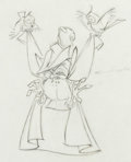 Animation Art:Production Drawing, Sleeping Beauty Owl Animation Drawing (Walt Disney,1959)....