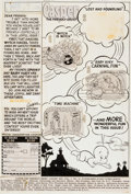 Original Comic Art:Splash Pages, Casper the Friendly Ghost #11 Contents Page Original Art(Harvey, 1953)....