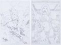 Original Comic Art:Splash Pages, Red Sonja and Wolawina Pin-Up Original Art Group (undated)....(Total: 2 Original Art)