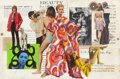 Pulp, Pulp-like, Digests, and Paperback Art, VICTOR LIVOTI (American, 20th Century). The Beautiful People,paperback cover. Mixed media on paper laid on board. 17.87...(Total: 2 Items)