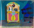 Animation Art:Production Cel, Dixieland Droopy Droopy Dog Production Cel and Key MasterBackground Setup (MGM Studios, 1954).... (Total: 3 Original Art)
