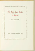 Books:Books about Books, [Texana.] A. C. Greene. INSCRIBED. The Fifty Best Books on Texas. Dallas: Pressworks Publishing, 1981. Inscribed b...