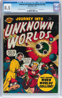 Journey Into Unknown Worlds #37 (#2) (Atlas, 1950) CGC VF+ 8.5 Cream to off-white pages