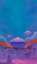 Pulp, Pulp-like, Digests, and Paperback Art, PAUL LEHR (American, 1930-1998). The Laughter at Night.Acrylic on board. 19 x 11.25 in. (sheet). Signed lower right and...
