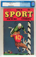 Golden Age (1938-1955):Non-Fiction, True Sport Picture Stories V4#11 Mile High pedigree (Street &Smith, 1949) CGC FN/VF 7.0 Off-white pages....