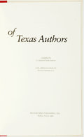 Books:Books about Books, [Texana.] Cameron Northouse, compiled by. David Grossblatt, additional entries. First Printings of Texas Authors. ...