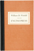 Books:Reference & Bibliography, Gould Whaley Jr., compiled by. INSCRIBED. William D. Wittliffand the Encino Press: A Bibliography. Dalllas: Sti...