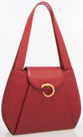 Luxury Accessories:Accessories, Cartier Panthere Red Leather Shoulder Bag. ...