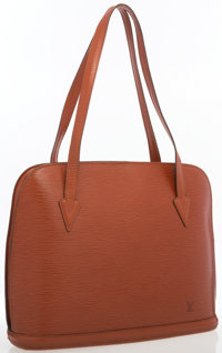 """Louis Vuitton Fawn Epi Leather Lussac Bag Good to Very Condition 16"""" Width x 11.5"""" Height x 2"""""""