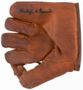 Baseball Collectibles:Others, Burleigh Grimes Signed Spalding Store Model Glove....