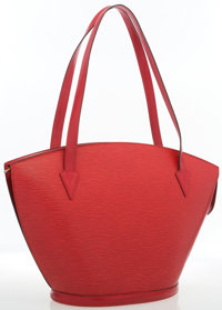 """Louis Vuitton Red Epi Leather St. Jacques GM Bag Good to Very Good Condition 10"""" Width x 11.5"""" He"""