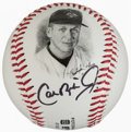 Baseball Collectibles:Others, Cal Ripken Jr. Signed Photograph and Baseball....